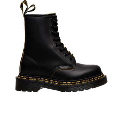Dr. Martens 1460 Double Stich Black Yellow Smooth